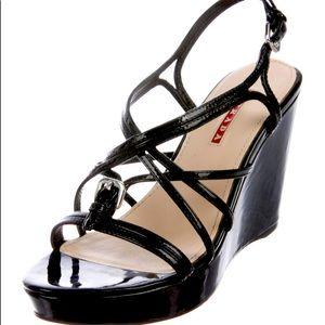 Prada authentic leather Slingback Sandals